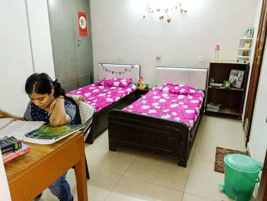 Double AC Room - Marble Flooring - Student Accommodation